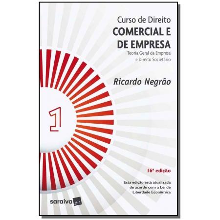 Curso de Direito Comercial e de Empresa - Vol. 1 - 16ª Edição de 2020