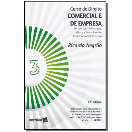 Curso de Direito Comercial e de Empresa - Vol. 3 - 14ª Edição de 2020