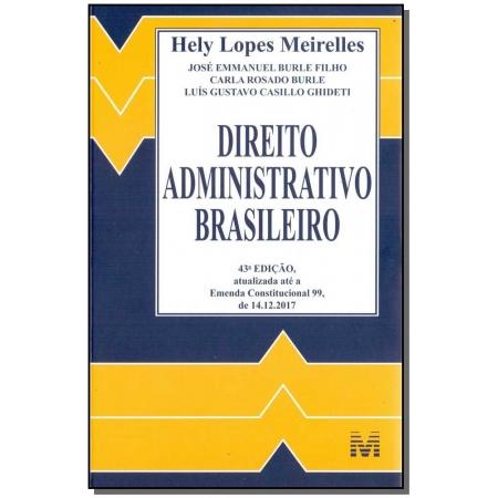 Direito Administrativo Brasileiro - 43Ed/18