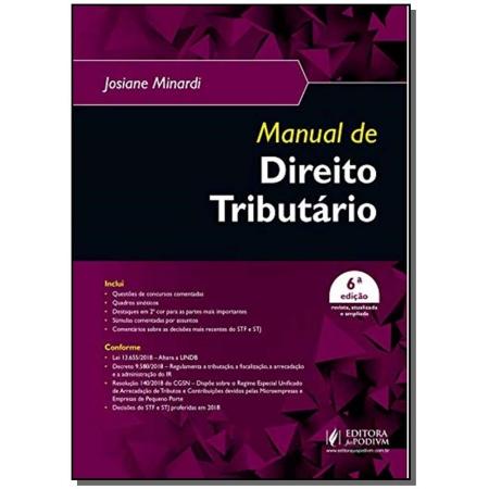 Manual de Direito Tributário - 06ED/19