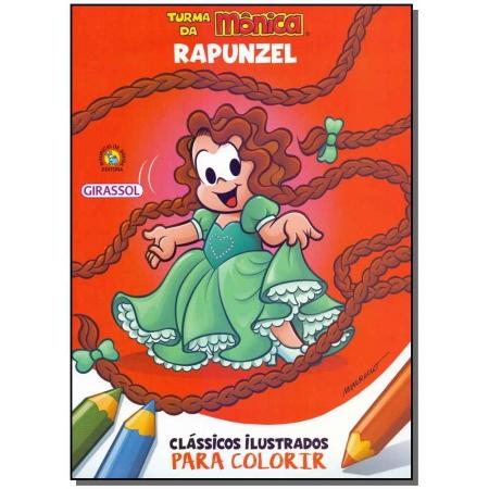 Turma da Mônica - Clássicos Ilustrados Para Colorir - Rapunzel