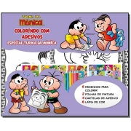 Turma da Mônica - Colorindo Com Adesivos Especial - Turma da Mônica