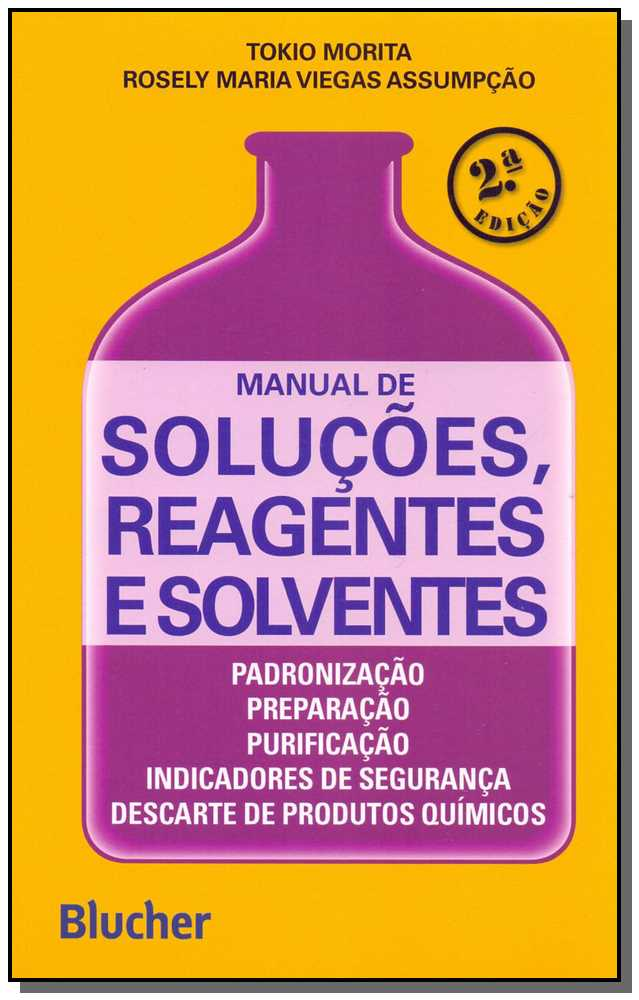 Manual de soluções, reagentes e solventes