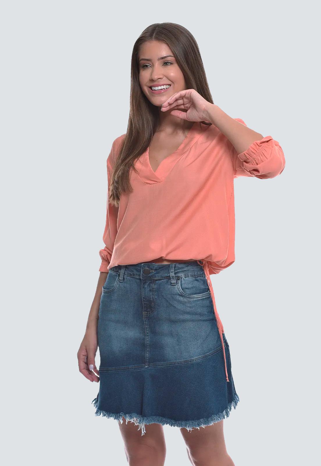 Saia Jeans Irregular