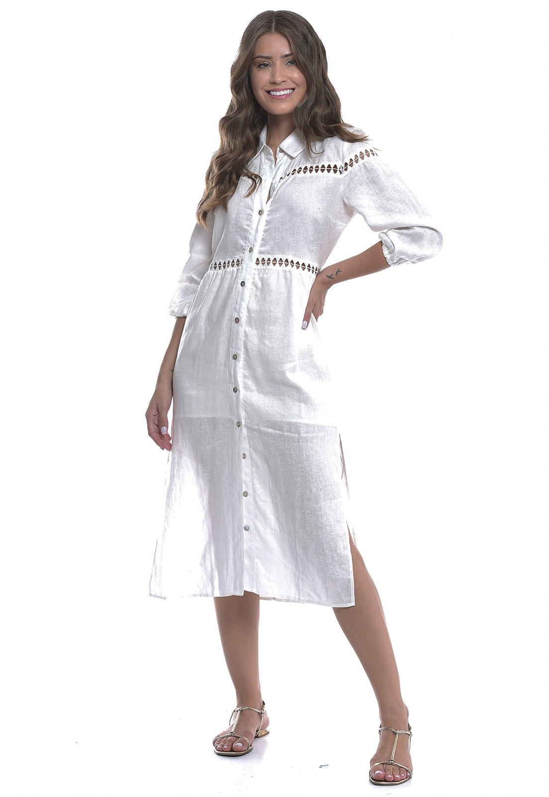 Vestido Linho Puro