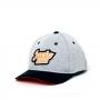 Boné Dad Hat JactoKids Patch Logo - Cinza