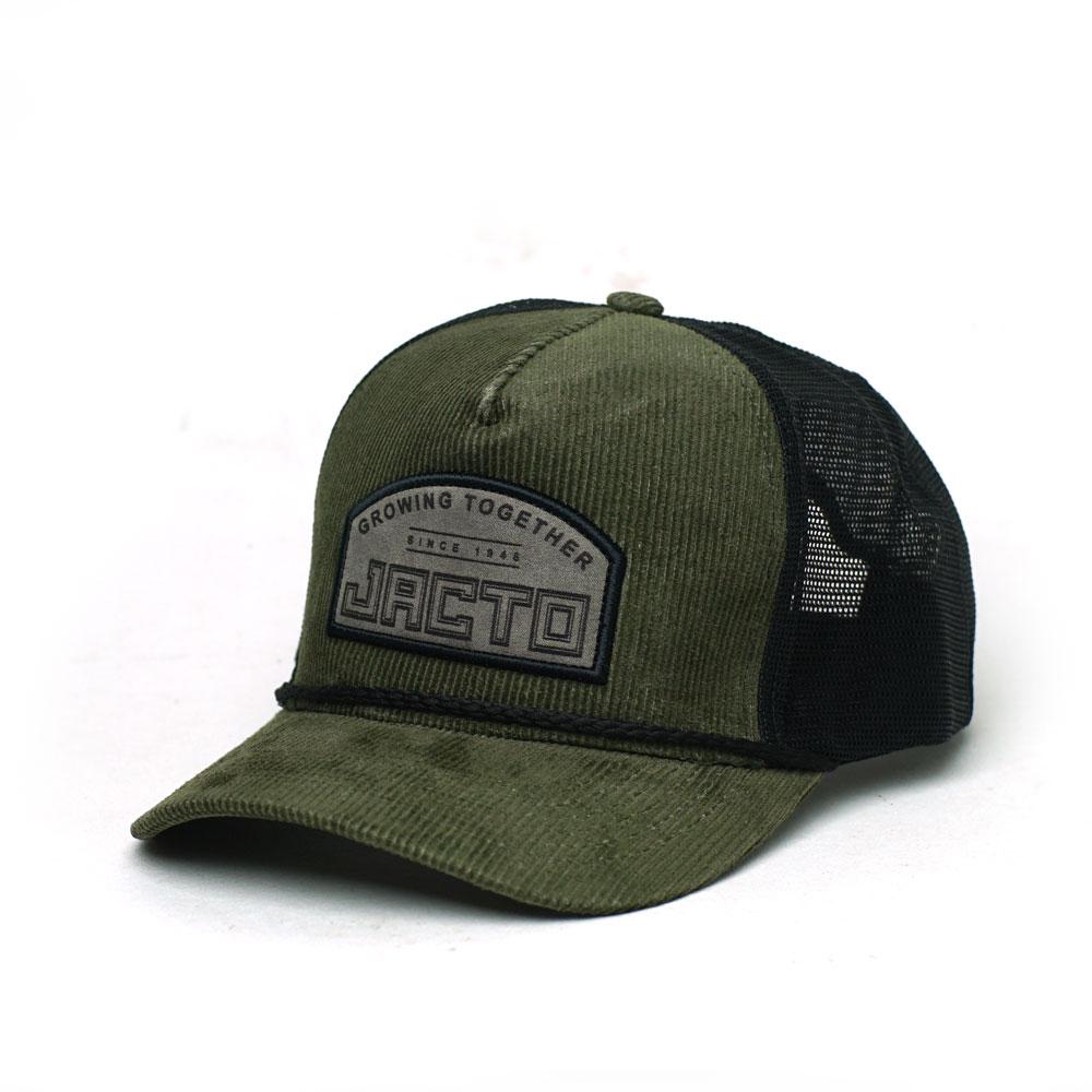 Boné Super Premium Trucker Jacto Together - Verde Escuro