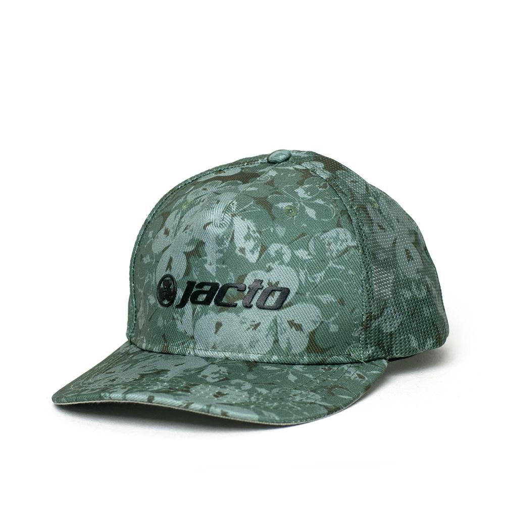 Boné Trucker Jacto Logo - Verde Camuflado