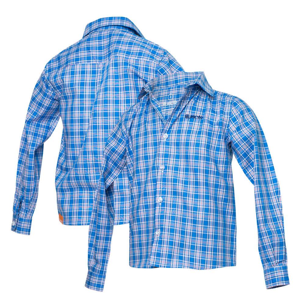 Camisa Inf. Jacto Xadrez - Azul