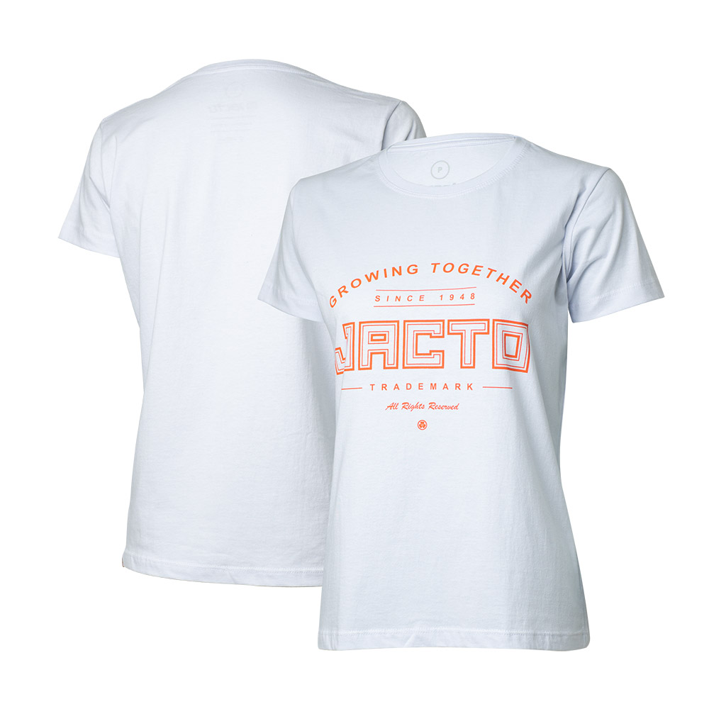 Camiseta Fem. Jacto Growing Together - Branca