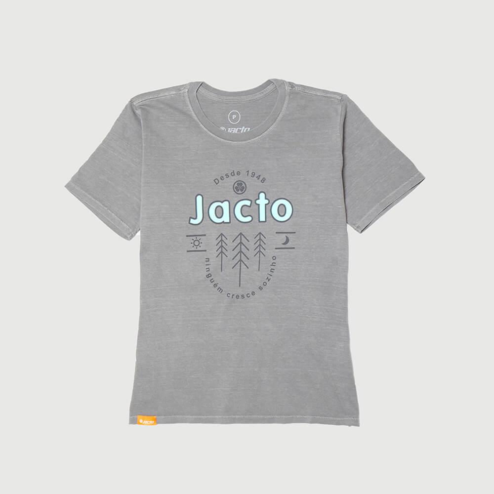 Camiseta Fem. Jacto Pinheiros Lavada Estonada - Cinza