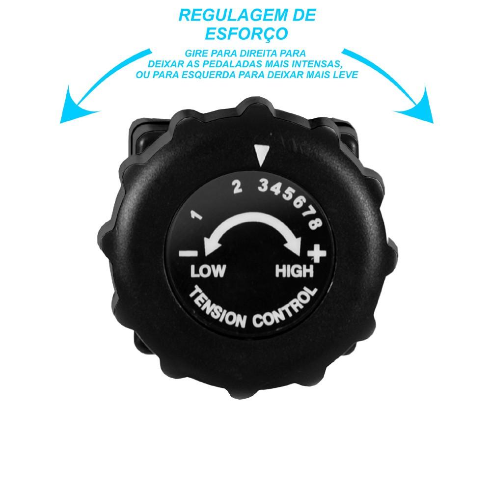 Bicicleta Ergométrica Dobravel PodiumFit X-Bike XB100 Magnetica 8cargas Silenciosa