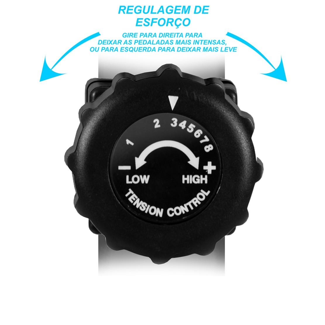Bicicleta Ergométrica Horizontal PodiumFit H100 - Magnética - 8cargas