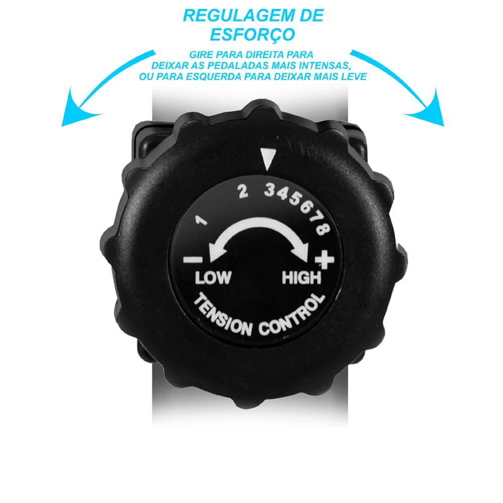 Bicicleta Ergométrica Horizontal PodiumFit H300 - Magnética - 8cargas