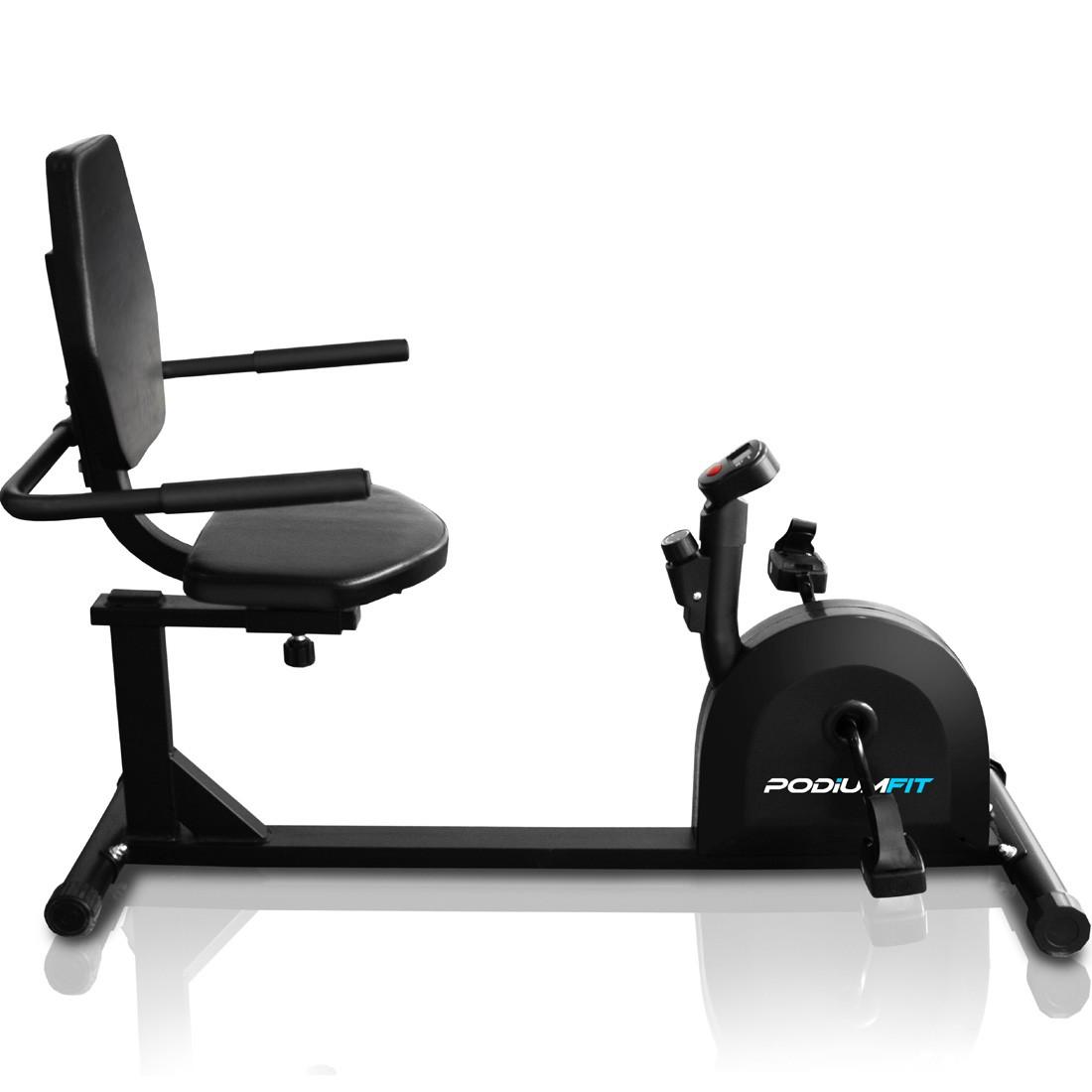 Bicicleta Ergométrica PodiumFit H50 - Controle de Intensidade - Max100Kg