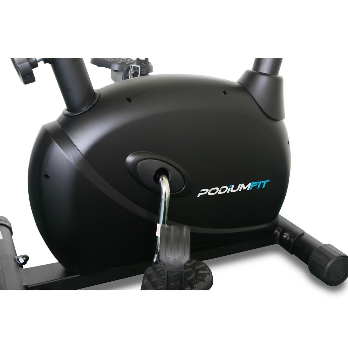 Bicicleta Ergométrica PodiumFit V100 - Magnética - 8cargas - Max120Kg - Silenciosa