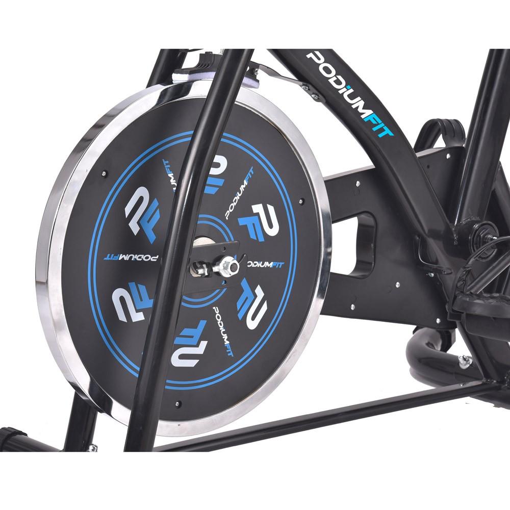 Bicicleta Ergométrica Spinning PodiumFit S100 - Silenciosa - Roda 8kg - Controle de intensidade