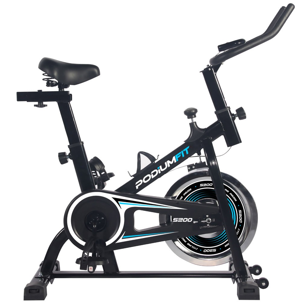 Bicicleta Ergométrica Spinning PodiumFit S200 - Silenciosa - Roda 6kg