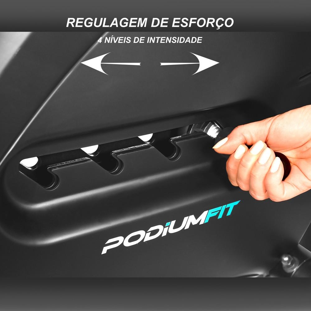 REMO SECO SIMULADOR PODIUMFIT RS100 - 4 cargas, Silencioso e Dobrável
