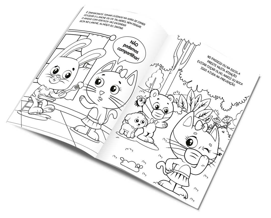 A Turminha do Bobby contra o Coronavírus - Livro de Colorir