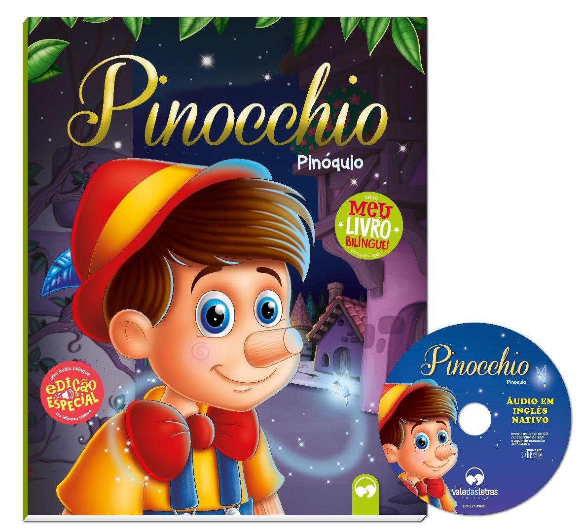 Pinocchio (Pinoquio) - Meu Primeiro Livro Bilíngue