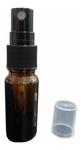 10 Frascos Vidro Âmbar 10ml Spray Válvula Preta Tp Preta