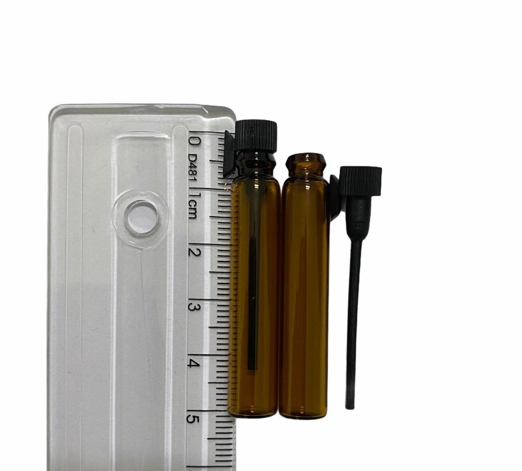 10 Frascos Vidro Âmbar Amostra Perfume com vareta - selecione 1ml ou 2ml