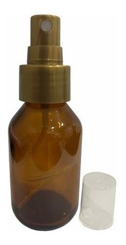 10 Frascos Vidro Âmbar Spray 100ml Válvula Dourada