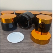 10 Potes vidro âmbar 30ml