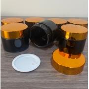 10 Potes vidro âmbar 50ml