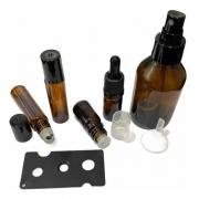 10 Rollon Premium 10ml 5 Gotejador 5ml 5 Conta Gota 5ml 5 frasco vidro Spray 100ml 01 funil e 01 abridor