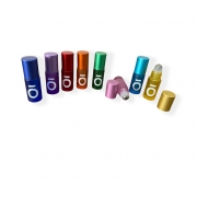 Frascos vidro Rollon 5ml Colors Premium com  símbolo