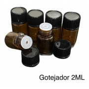 kit 100 (10 kits com 10) gotejador 2ml tampa preta e gotejador incolor natural