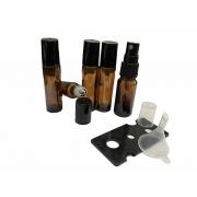 Kit 100 Rollon 10ml Premium + 10 frascos spray 10ml + funil + abridor