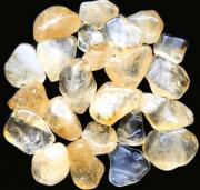 Pedras Citrino (ametista queimada) tamanho P - 4 pedras (total 25 a 35g)
