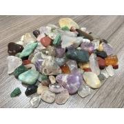 Pedras Mistas tamanho P a cascalho - peso total 50g