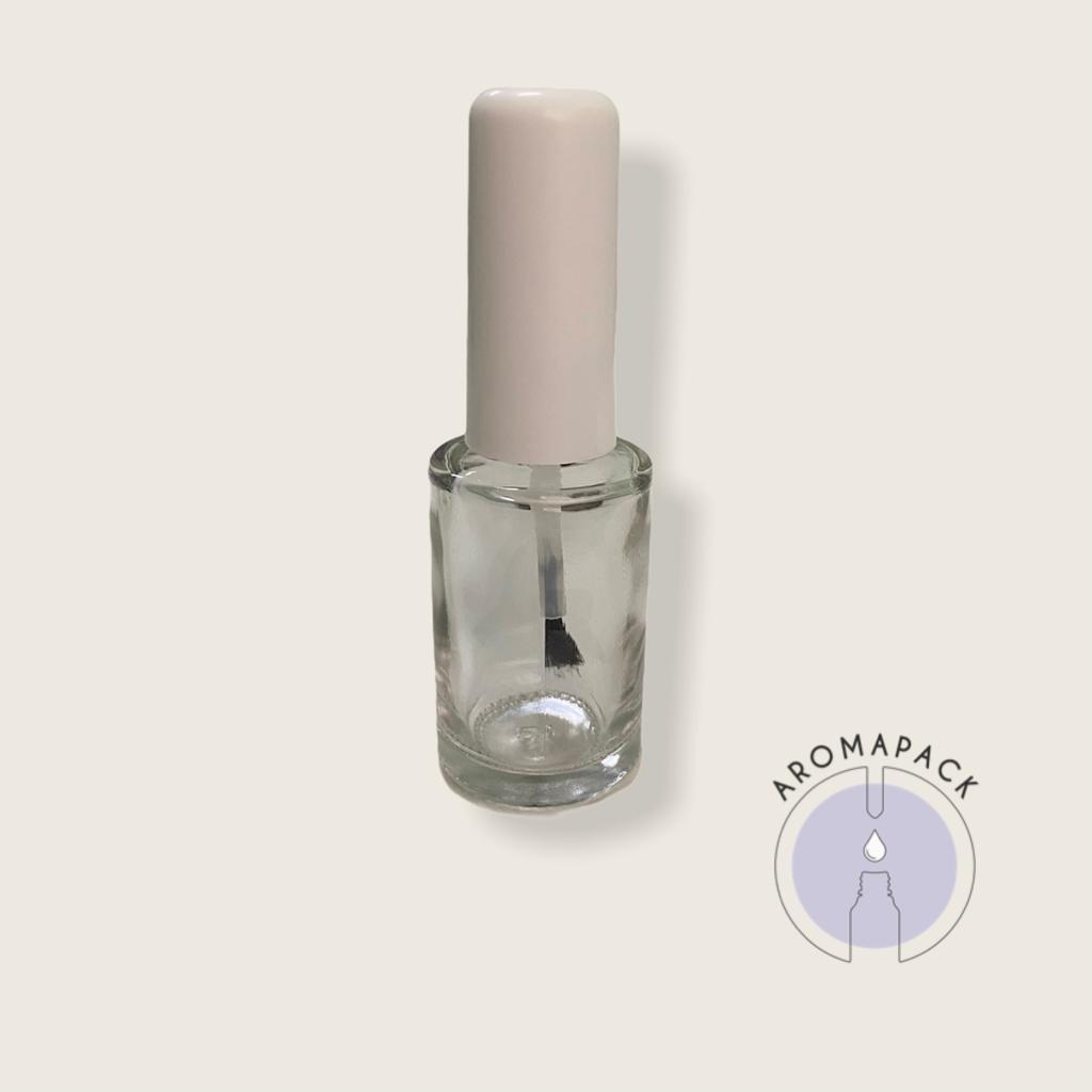 20 Vidro Esmalte incolor 10ml tampa branca