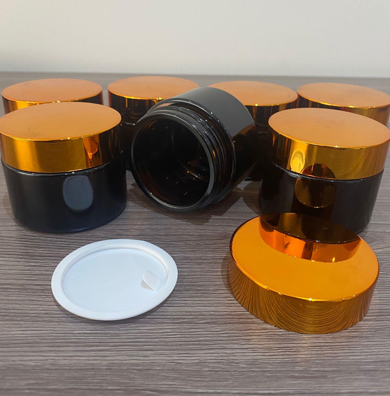 50 Potes vidro âmbar 30ml