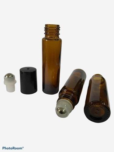 5 Rollon 10ml Premium 5 Frascos 60ml Válvula Spray Preta com 01 funil e 01 abridor