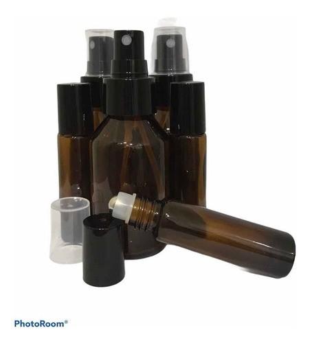 5 Rollon 10ml Premium 5 Frascos 60ml Válvula Spray Preta
