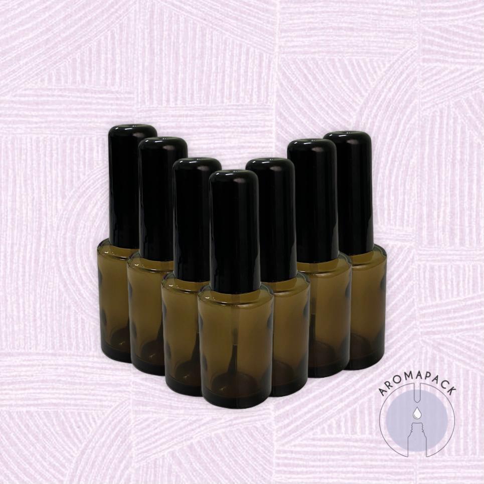 5 Vidro Esmalte Fumê 10ml tampa preta ou branca