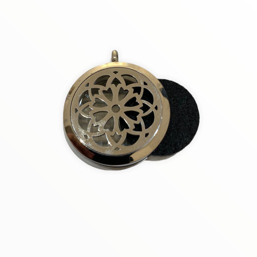 Aromatizador / Difusor pessoal colar de aço com fechamento magnético Phytoterápica