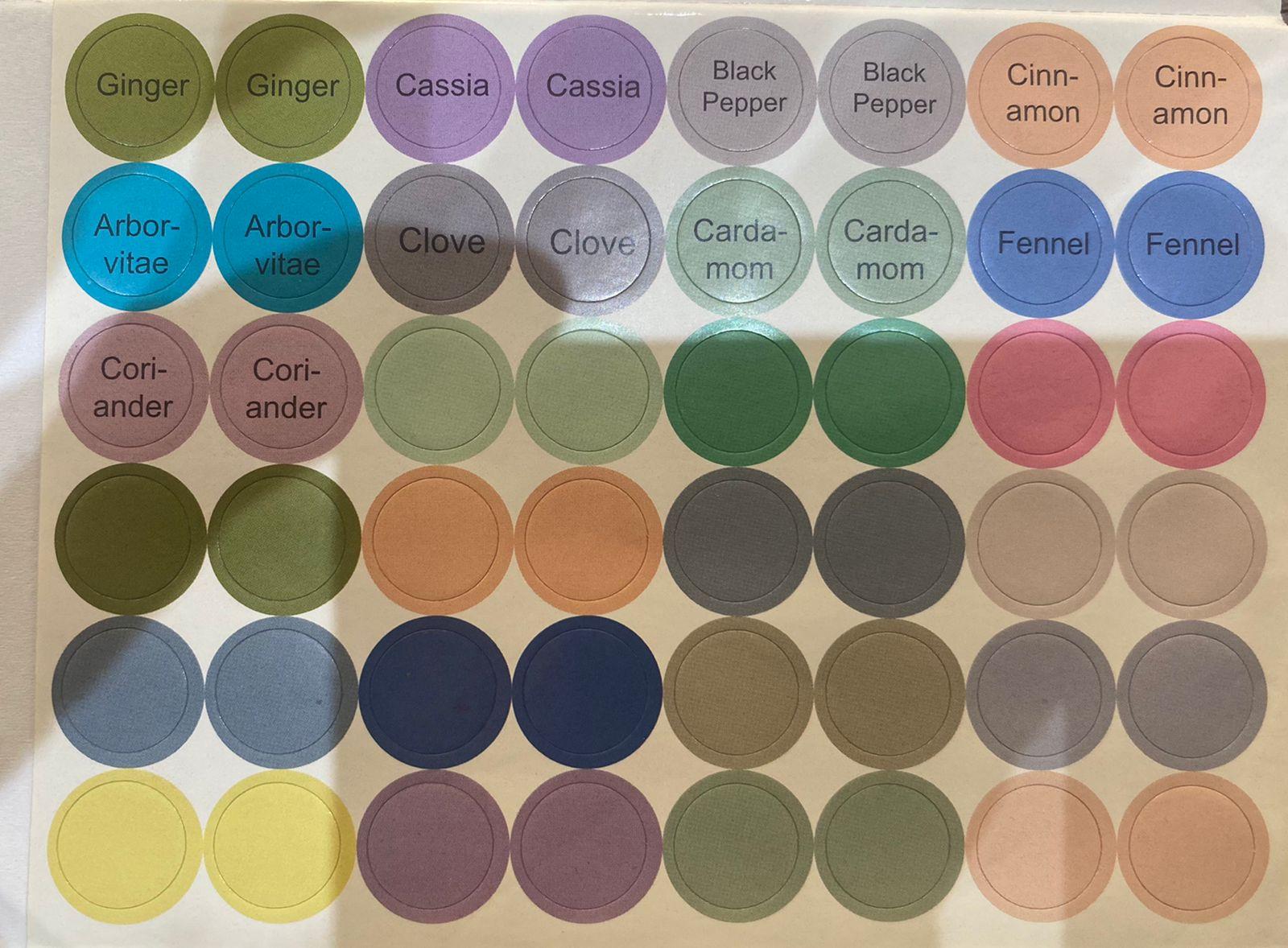 Etiquetas adesivas redondas - Kit sortido com 192 etiquetas