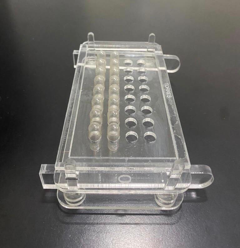 Kit  01 Encapsuladora Acrílico 32 Furos  + Cápsulas Gelatina N.0