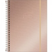 AGENDA PLANNER ESPIRAL WEST VILLAGE METALIZADO 2021 TILIBRA- ROSE GOLD