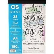 Bloco de Exercicios Lettering A4 -CIS GRAF