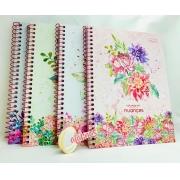 Caderno Natureza  floral DOUBLE - Cadersil