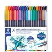 Caneta Brush Dual Staedtler Watercolour 36 Cores