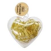Clips Coração Vazado Dourado