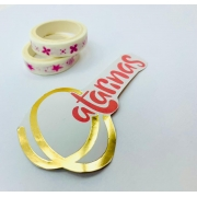 KIT WASHI TAPE Florzinha 2 UNIDADES